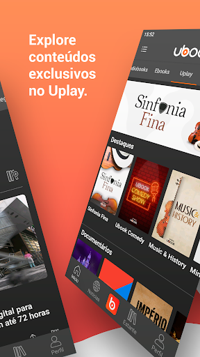 Ouvir melhores Audiobooks e Podcasts no Ubook Screen Shot