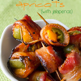 Bacon-Wrapped Apricots & Jalapenos.