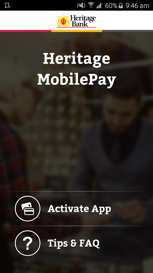 Heritage MobilePay- screenshot