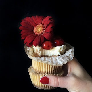 Cherry Cheesecake Cupcakes.
