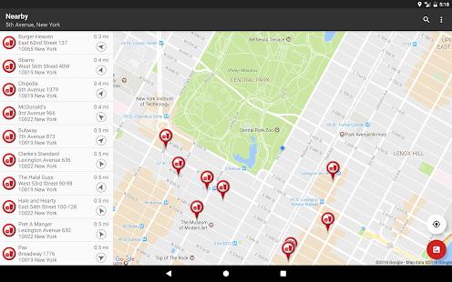 Fast Food Locator / Finder Screenshot 5