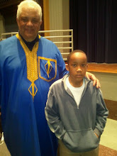 Photo: Jihad with scholar Charles S. Finch - April 2011. He'd come to speak at TSU.