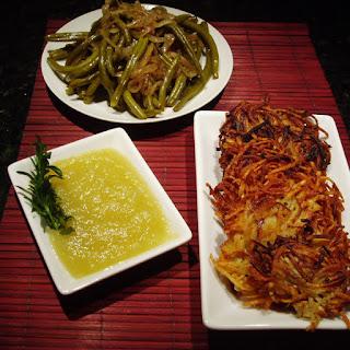 Potato-Parsnip Latkes with Savory Applesauce