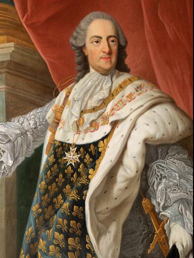 École Française du XVIIIème Siècle Portrait de Louis XV en tenue de sacre