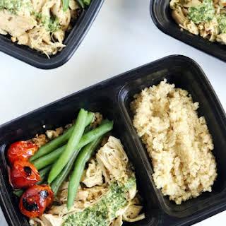 Pesto Chicken Quinoa Bowls (Meal Prep).