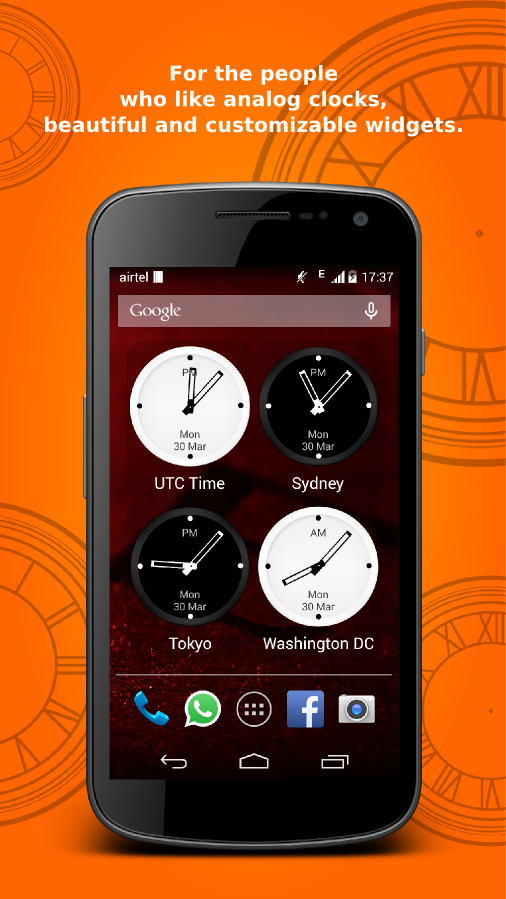 Bob's World Clock Widget - screenshot