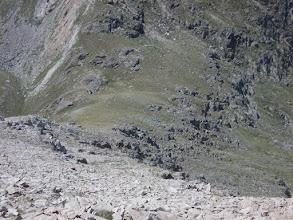 Photo: depuis la crête des Llosers,  descente vers le verrou (Collet)