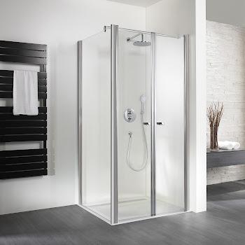 Duschkabinen_exklusiv pendeltür mit Seitenwand