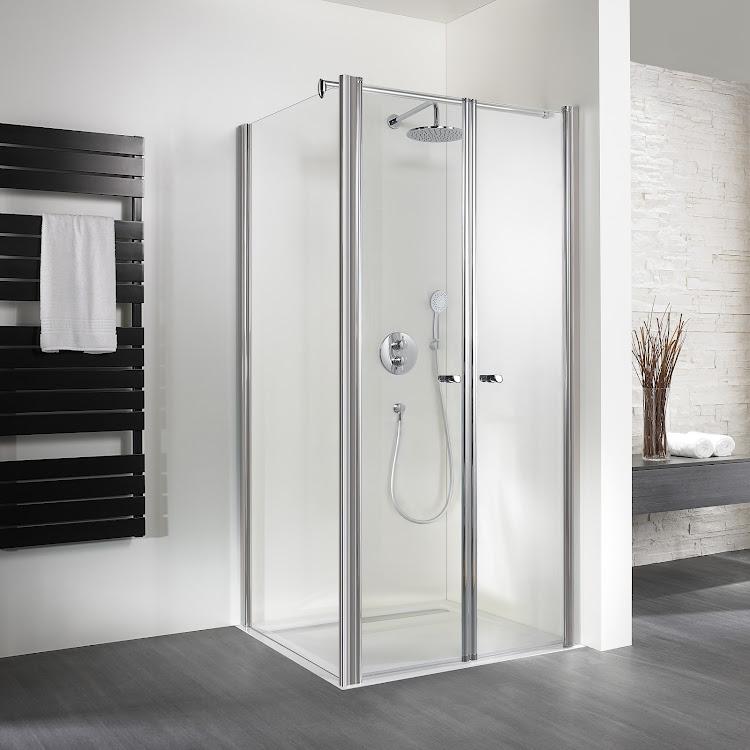 Shower Cabins_exklusiv pendeltür mit Seitenwand