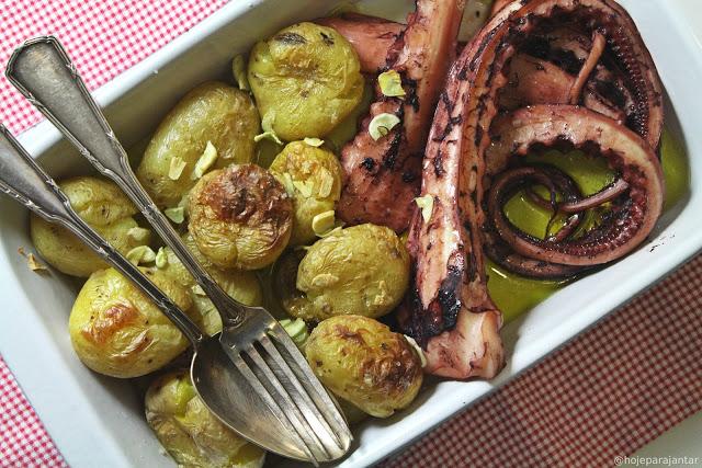 30 Minute Squid and Potatoes Recipe