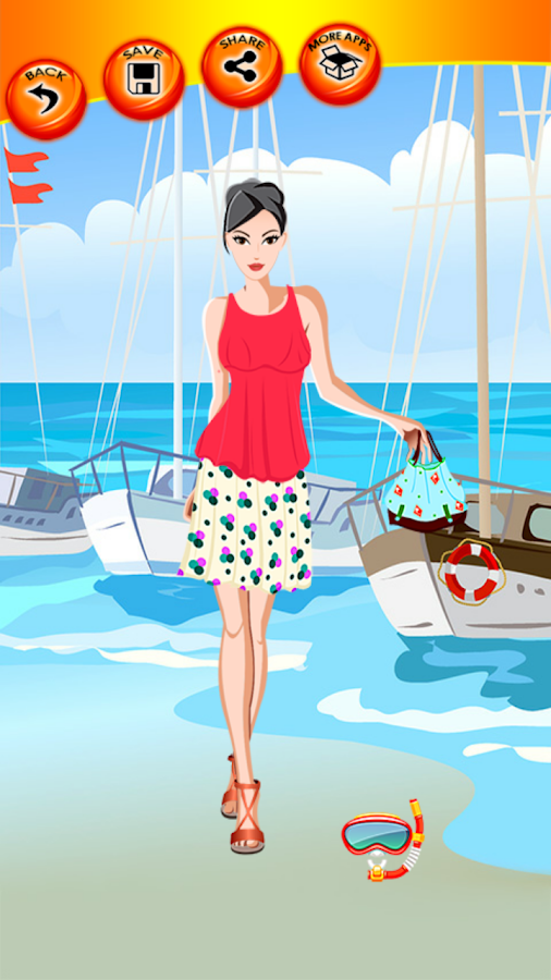 Beach style dress up games
