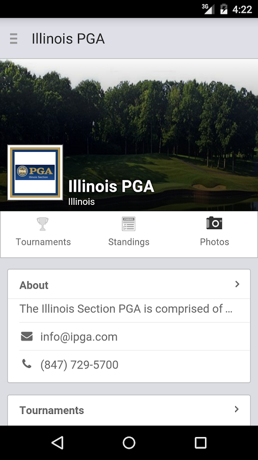 Illinois PGA- screenshot