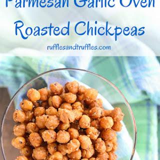 Parmesan Garlic Oven Roasted Chickpeas for #SundaySupper