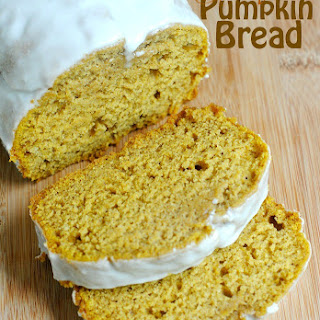 Glazed Pumpkin Bread.