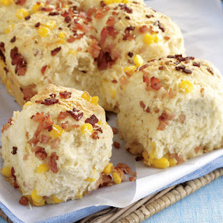 Cheese, Bacon and Corn Pull-Apart Bread.