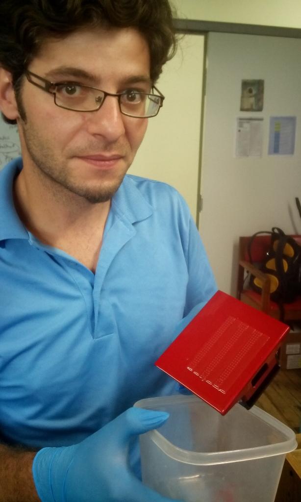 Photo: low-cost tape sensor 3D printed by Daniel