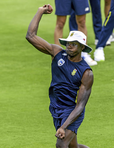 Blistering attack:   SA's Kagiso Rabada gets his eye in  ahead of Saturday's Test at Centurion. during the South African national mens cricket team training session and press conference at SuperSport Park on January 11, 2018 in Pretoria, South Africa. (Photo by Sydney Seshibedi/Gallo Images)Sydney Seshibedi/Gallo Images