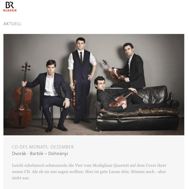 CD of the month - BR Klassik (December 2015)