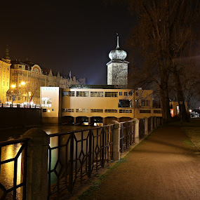 Mánes I. by Drahomír Škubna - City,  Street & Park  Night