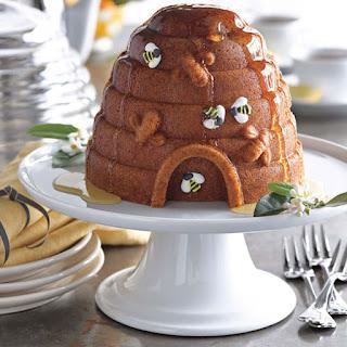 Honey-Glazed Lemon Beehive Cake