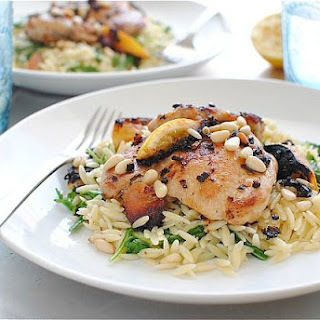 Lemon Pan-Seared Chicken with Buttered Orzo (& a Pioneer Woman Giveaway!)