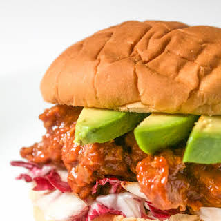 Southwestern Pulled Pork Sandwiches with Adobo Sauce.