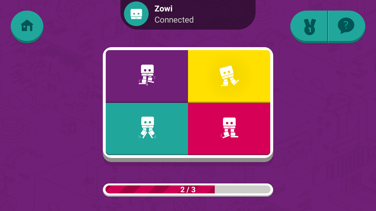 Zowi App- screenshot