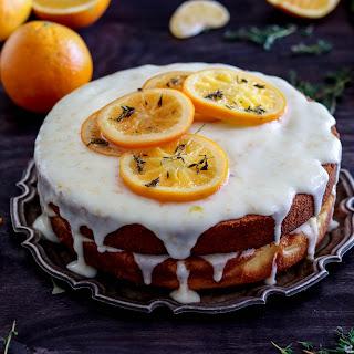 Orange tea cake with Greek yoghurt frosting