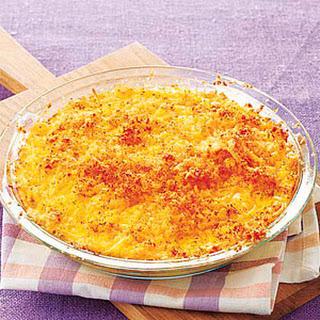 Three-Cheese Spaghetti Gratin