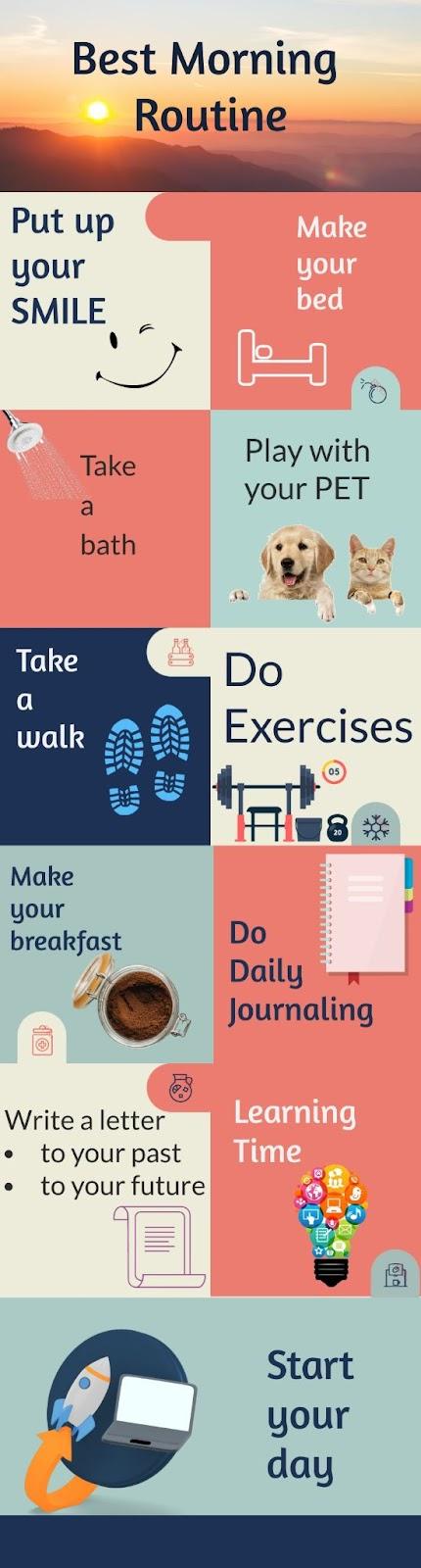 Morning Routine ideas checklist chart
