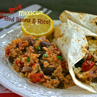 Spicy Mexican Red Beans & Rice.