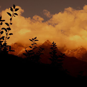 THE YELLOW EVENING by Arunava Das - Landscapes Mountains & Hills