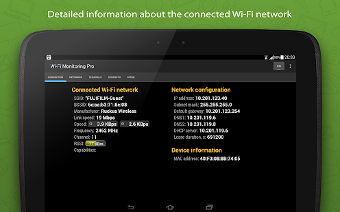 WiFi Monitor Pro - analyzer of Wi-Fi networks Screenshot