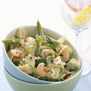 Shrimp and Asparagus Pasta.