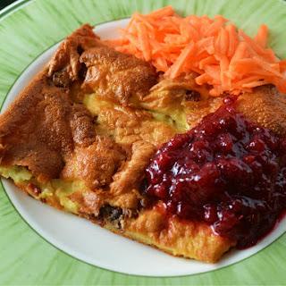 Swedish Ugnspannkaka (oven Pancake With Pork)