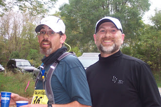 Photo: Getting fluids at aid station mile 74.