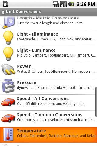 Скриншот gUnit - Unit Converter - Lite