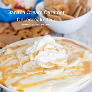 Banana Cream Caramel Cheesecake Dip