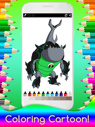 Coloring Ben Ten for Kids 0.10 screenshots 4