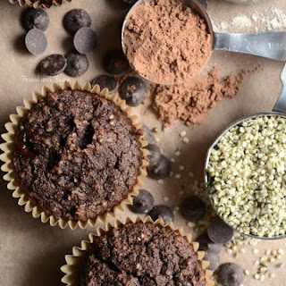Low Carb Chocolate Hemp Protein Muffins.