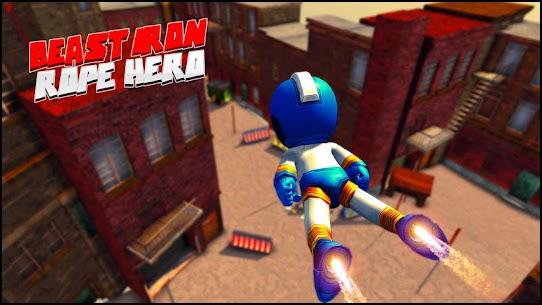 Beast Iron Rope Hero – Monster Stickman Hero Games 6