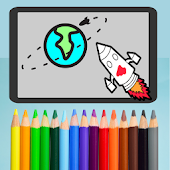 Planets Stars Coloring pages