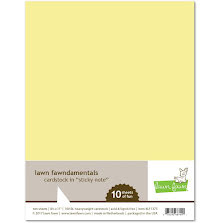 Lawn Fawn Cardstock - Sticky Note
