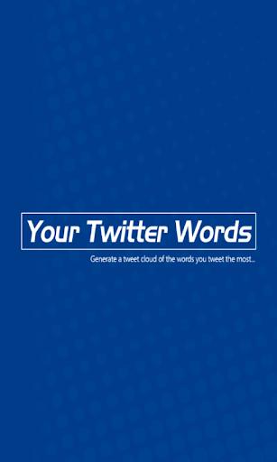 YourTwitterWords screenshot 1