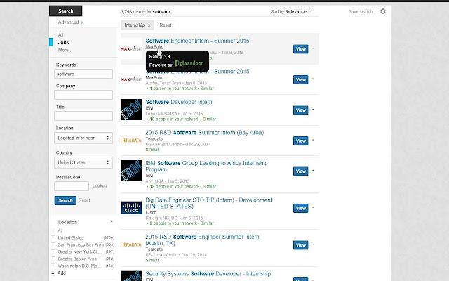 inDoors - Glassdoor Integrator for Linkedin