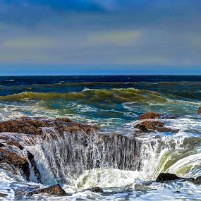 Thor's Well by John Broughton - Landscapes Waterscapes ( sea scape, nature, ocean, coast )