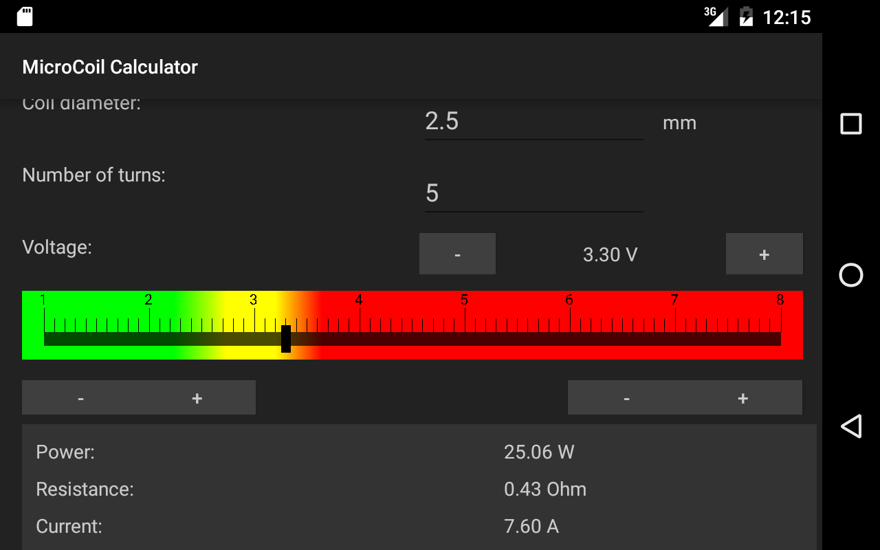 Pocket vapor coilcalculator android apps on google play pocket vapor coilcalculator screenshot greentooth Gallery