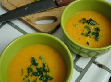 Butternut Squash Soup with Ginger and Lime
