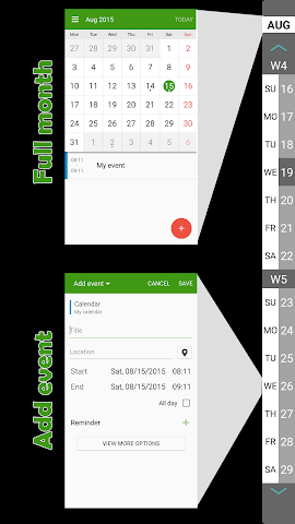 android Calendar for S6 Edge (+) PRO Screenshot 3