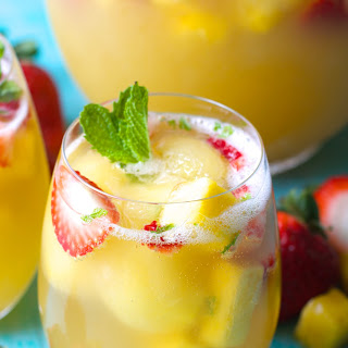 Sparkling Pineapple Strawberry Punch.